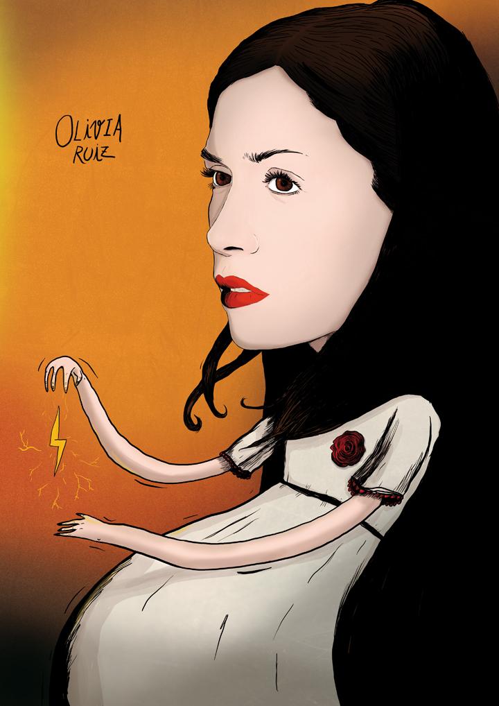 Illustration Olivia Ruiz Le calme et la tempete