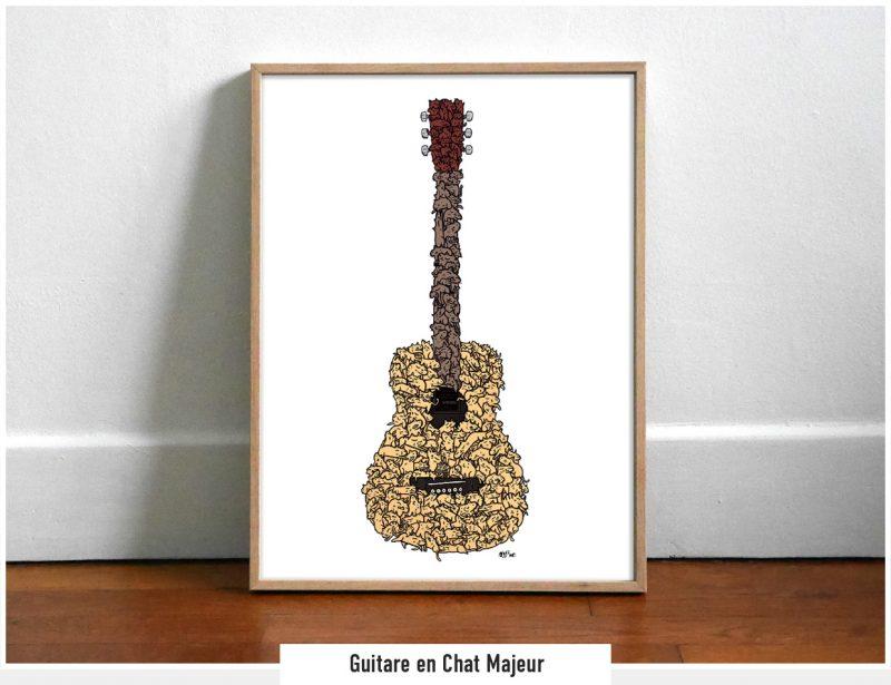Guitare en Chat Majeur